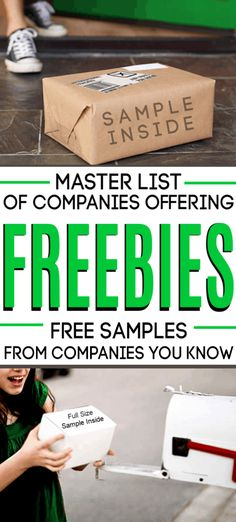 Master List of Freebie Websites (Free Samples from More than 50 Brands You Already Love!) - Master list of freebie website – websites that send you FREE samples! These companies & brands - Stuff For Free, Free Stuff By Mail, Free Baby Stuff, Free Samples Without Surveys, Free Samples By Mail, Free Sample Boxes, Makeup Samples, Mac Samples, Freebies By Mail