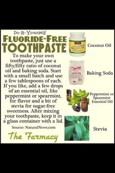 Homemade toothpaste. All natural baby