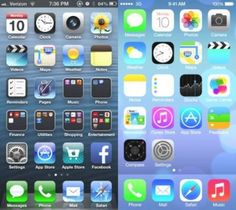 a huge difference between apple ios6 and ios7