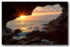 Sea Anemone Cave Sunrise, Acadia National Park, Maine.