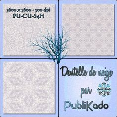 PUBLIKADO: Dentelle de neige - CONTENU 3 papiers  - 3600 x 3600 - 300 dpi PU-CU-S4H FREEBIES Digital Scrapbooking