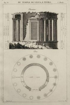 Antoine Desgodetz - Du Temple de Vesta a Tivoli - Ancient Rome