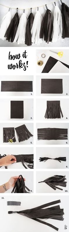 Tassel Garland DIY – selfmade – easy one! Tassel Garland selbermachen. Girlande selbermachen