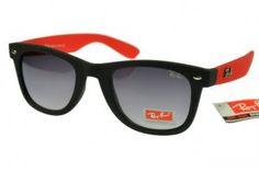Ray Ban RB1878 Black Red Frames Grey Lenses Cheaps1037