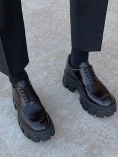 Prada Just Made Ugly School Shoes a Surprising Fashion Item All Black Sneakers, Shoes Sneakers, Shoes Heels, Prada Shoes, Black Shoes, Estilo Doc Martens, Mode Shoes, Chunky Shoes, Look Vintage