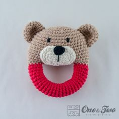 Teddy Bear Rattle Crochet Pattern