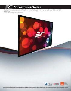 Elite sable frame screens by DukaneAVMarketing via slideshare
