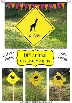 DIY Animal Crossing Signs Party Decor