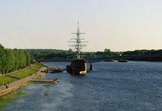 Vue sur le fleuve Volkhov à Veliky Novgorod #instantVDS16