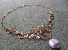 BRIDE BRIDESMAID NECKLACE copper neclake combine by MakeMyStyle, $25.00