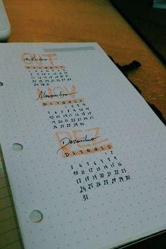 Calendário fim do ano.