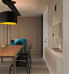 Home Design and Interior Design Gallery of Extravagant Dining Area Shelving Wall Asian Modern Apartment Neutral Colors