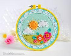 Sun & Flowers Hoop by Kay Miller For Papertrey Ink (April 2016)