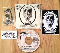 RAGWATER REVUE Dear Beautiful EP CD 2005 + 3 Stickers Handmade Stitched Package #SwampRock