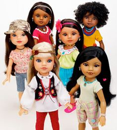 Multicultural dollies with a purpose!  Hearts for Hearts Girls Dolls