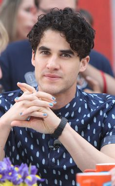 Darren Criss promoting Hedwig on Access Hollywood Live on May 8, 2015