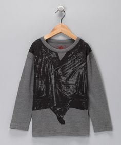 Take a look at this Heather Gray Moto Vest Organic Tee - Toddler & Boys by Soft Clothing on #zulily today!