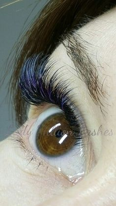 Russian volume color eyelash extensions