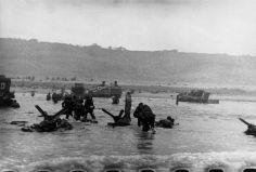 Normandy. June 6th, 1944. US troops assault Omaha Beach during the D-Day landings.