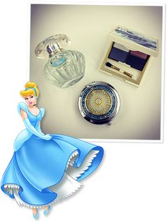 #Sephora teamed up with Disney to create a limited-edition collection inspired by Cinderella. We got a sneak peek at the lineup, and we're loving the regal perfume, four-shadow palette, and compact mirror, shown here! http://news.instyle.com/2012/07/19/cinderella-for-sephora-makeup-collection/#