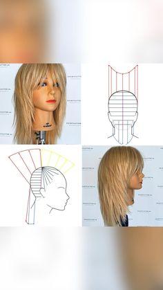 Shaggy Haircuts, Shag Hairstyles, Layered Haircuts, Unique Hairstyles, Haircuts For Fine Hair, Hair Cutting Videos, Hair Cutting Techniques, Hair Color Techniques, Hair Videos