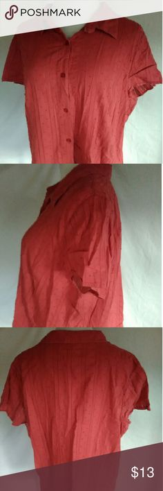 C.j banks button down shirt plus size 2x Measurements  Armpit to armpit 24in Length 25in  Gently worn   No holes or stains  Ships fast c.j banks Tops Blouses