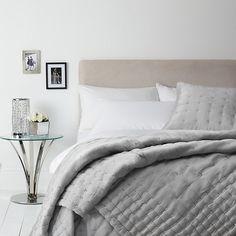 Buy John Lewis Boutique Hotel Silk Bedspread, Grey, L200 x W150cm Online at johnlewis.com