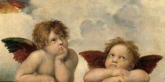 """Raphaël - les célèbres angelots """"Lamentation sur le Christ Mort"""" ou """"La Déposition"""" du peintre Raphaël (1504-1507)"""