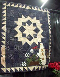 Cottons 'n Wool: Primitive Gatherings Wool Quilts, Star Quilts, Wool Applique, Applique Quilts, Primitive Quilts, Amish Quilts, Snowman Quilt, Primitive Gatherings, Cute Quilts