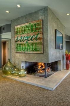 Home Sweet Home Brown Distressed Wood Wall Art