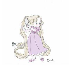 Twitter Pretty Art, Cute Art, All Disney Princesses, Cute Kawaii Drawings, Character Design References, Illustration Girl, Disney Art, Comic Art, Chibi