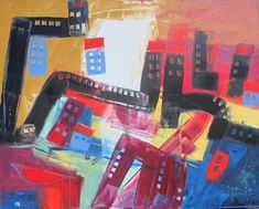 Buy abstract city with trains  31,5 x 39,4 inch, Oil painting by Max  Müller on Artfinder. Discover thousands of other original paintings, prints, sculptures and photography from independent artists.