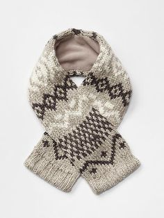 Marled fair isle scarf