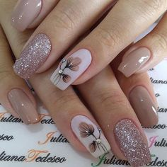 35 Latest Glitter Acrylic Nail Art Designs Ideas For Long Nails : 35 Latest Glitter Acrylic Nail Art Designs Ideas For Long Nails Fall Nail Art Designs, Cool Nail Designs, Acrylic Nail Designs, Elegant Nail Designs, Trendy Nails, Cute Nails, My Nails, Spring Nails, Summer Nails