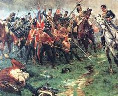 Battle of Albuera 16 May 1811 Peninsula - The Buffs defend their colours from Polish Lancers
