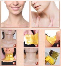 Neck Skin Care Gold Collagen Mask     Whitening Reducer