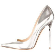 Pre-owned Jimmy Choo Silver Pumps ($530) ❤ liked on Polyvore featuring shoes, pumps, heels, silver, pointed toe shoes, pre owned shoes, silver pointy toe pumps, silver shoes and silver pumps