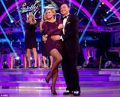 Wearing a short purple dress adorned with sequins, 45-year-old Darcey Bussell stole the limelight as she danced alongside fellow judge Craig Revel Horwood at the start of BBC1 show Strictly Come Dancing
