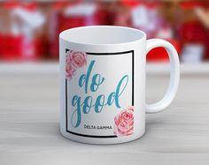 Sorority Floral Motto Mug