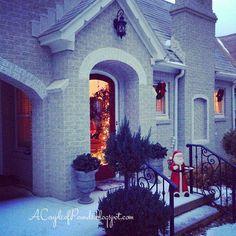 There's No Place Like Home for the Holidays! {Christmas Home Tour – 2013} – Ellis Jean Design Co, christmas decor, holidays, holiday decor, snow, tudor, outside decor, christmas porch decor