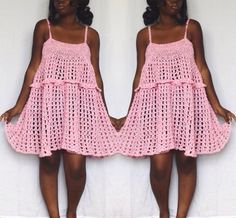 Handmade crochet dress pattern from The Dream Crochet Shoppe.