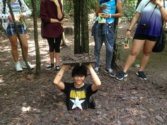Here are some of our history students at Cu Chi tunnels in October 2015. They learnt about the guerrilla fighters of the Vietcong and the tactics they used to fight against American soldiers.