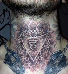 Throat Chakra Tattoo