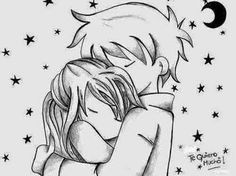 Cute couple drawings - 40 Romantic Couple Hugging Drawings and Sketches Love Drawings Couple, Cute Drawings Of Love, Couple Sketch, Pencil Art Drawings, Art Drawings Sketches, Easy Drawings, Romantic Couple Hug, Romantic Couples, Croquis Couple