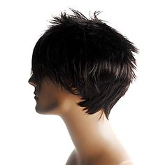 Short Straight High Quality Synthetic Men's Wig -WigSuperDeal.com