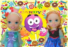 Anna and Elsa Toddlers Candy Land Adventure Shopkins Sweet Treats Barbie...