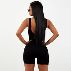 Sleeveless Bodysuit                      – Est.912 Short Playsuit, Sexy Shorts, Long Sleeve Romper, Black Bodysuit, Summer Outfits, Sexy Women, Rompers, Clothes, Jumpsuit