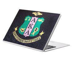 Aureate Label - SOLD-OUT - Alpha Kappa Alpha Sorority, Inc. Officially Licensed Crystal Laptop Skin, $40.00 (http://www.aureatelabel.com/sold-out-alpha-kappa-alpha-sorority-inc-officially-licensed-crystal-laptop-skin/)