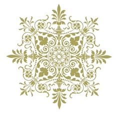 Canterbury Medallion (Reminds me of snow flake) Stencil Patterns, Stencil Designs, Celtic Decor, Paper Ornaments, Parchment Craft, Stencil Painting, Cross Designs, Handmade Crafts, Design Elements