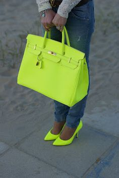 Neon green MK wallet | the bag | Pinterest | Mk wallet, Neon green ...